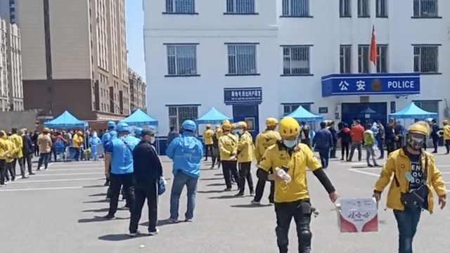 保障骑手和顾客安全,吉林市为2022名外卖员免费做核酸检测