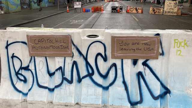 """""""警察不准入内"""",西雅图抗议者建自治街区,警方:满足你们"""