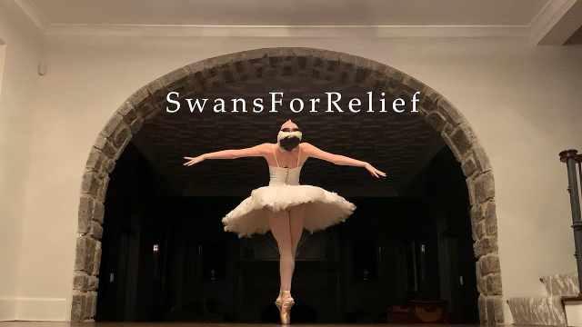 14国32位芭蕾舞者线上共舞《天鹅之死》