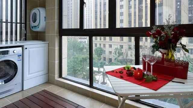 阳台这样规划,洗衣、晾衣、休闲都能实现了!简直太棒了!