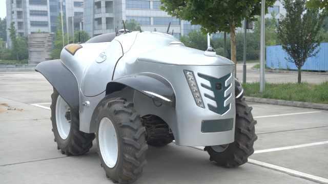 中国首台5G+氢燃料电动拖拉机亮相:氢电池供电