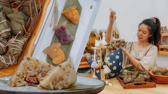 今年端午没有赛龙舟,但可以做香囊、挂艾草、包粽子