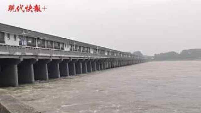 淮安三河闸开闸泄洪,流量每秒4500立方米