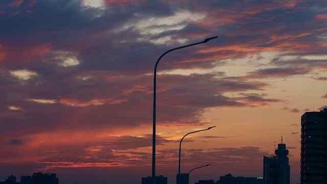雨后天晴,南京邂逅超美晚霞