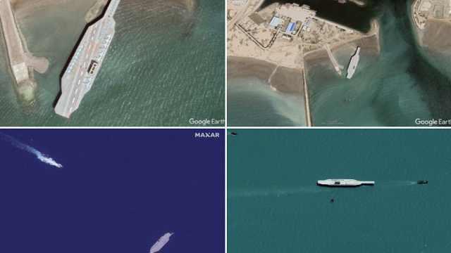 伊朗在海上用导弹打美国航母模型,美军:看不出什么战术价值