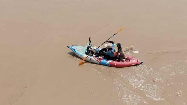 一人一狗一船,宁夏小伙黄河漂流到济南:曾独自穿越沙漠