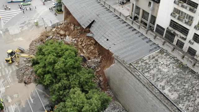 专家分析西安明秦王府城墙保护砌体坍塌原因:连日暴雨所致