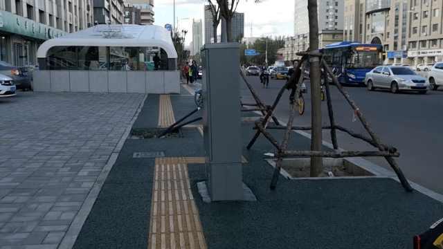 市政局回应呼和浩特十八弯盲道:地铁方施工后自