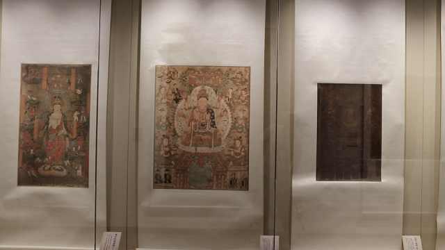 兰州展出130件敦煌流散海外文物复制品:愿真品早日回国