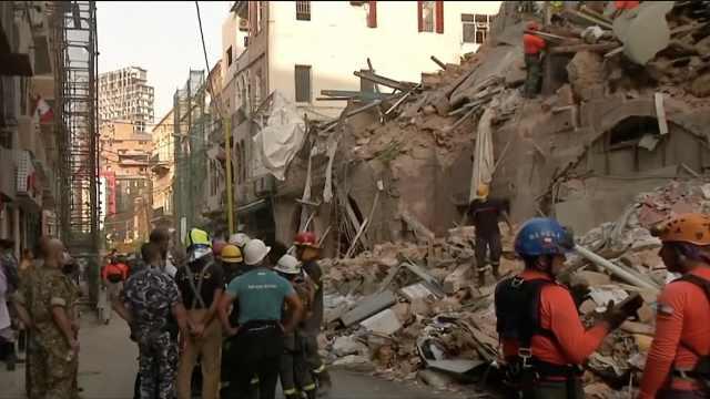 搜救中!黎巴嫩爆炸一月后废墟中发现生命:每分钟18次心跳