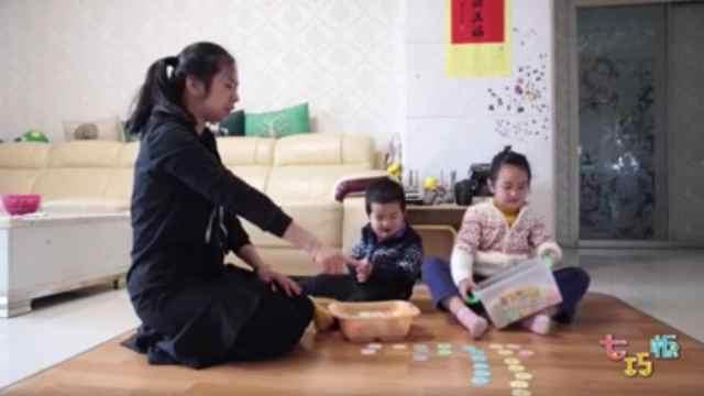 亲子游戏:雪花片这样玩,幼儿数学启蒙 so easy!
