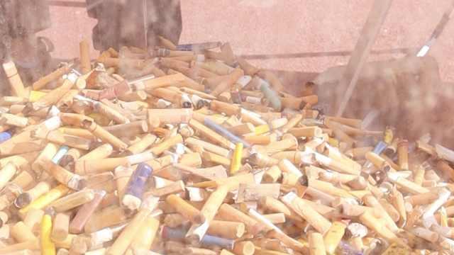 太原一街道30个烟头兑换1个鸡蛋,20天收集近300万烟头
