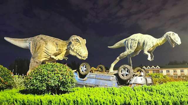 江苏有个恐龙主题高速服务区,宛如侏罗纪公园