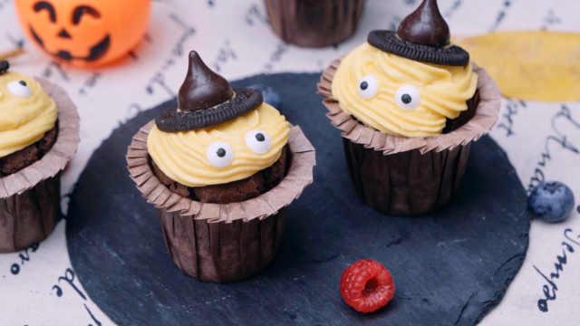 超可爱的万圣节蛋糕,女巫帽子造型,好看更好吃