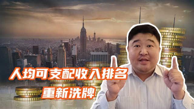 2020居民可支配收入排行,重庆成最大黑马,十强城市或将洗牌