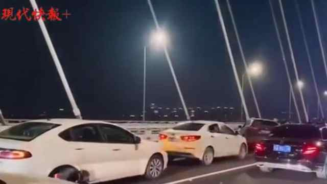 南京江心洲长江大桥发生通车后首起事故