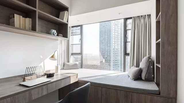 75平小户型,小卧室宽度只有1.5米,看设计师如何利用空间!