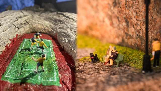 """天津大学里隐藏的""""迷你世界"""":学生创作温馨校园微缩景观"""