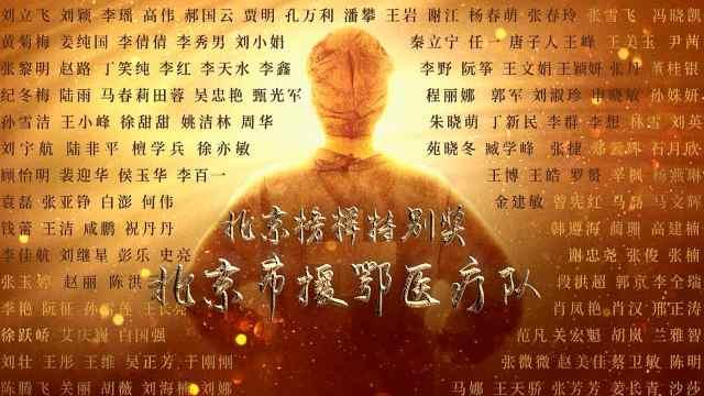 """""""2020北京榜样""""年度特别奖:北京市援鄂医疗队"""