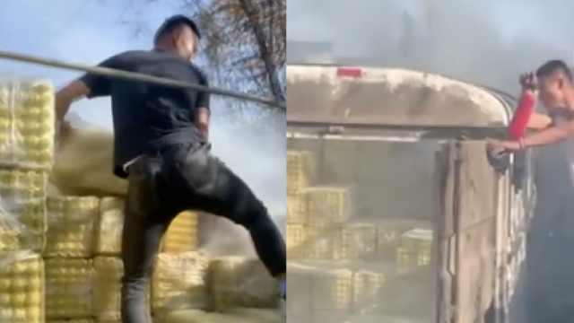 消防员出差途中遇火情,赤膊上阵抢卸货物:下次还会义无反顾