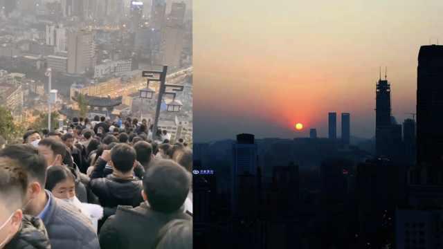 爬山顶看日落,这样的美景让人震撼