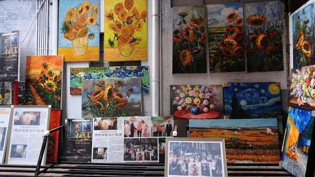 """中国油画第一村:""""中国梵高""""从临摹转型原创"""
