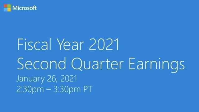 微软公布2021财年第二财季财报:智能云业务、Xbox增幅抢眼