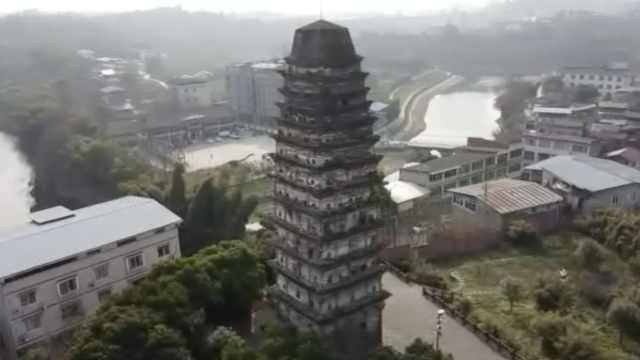 宝塔镇河妖?宋代古塔屹立800年不倒,内部结构让人惊叹