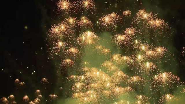 浏阳水母烟花秀除夕夜震撼来袭!市民漫天烟花下许下新春愿望