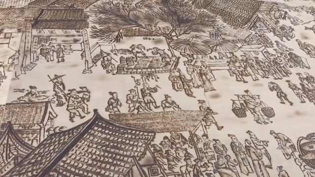 湖北村民制作16米烙画版《清明上河图》:耗时3月,全靠自学