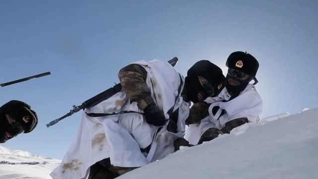 """元宵当天他们脚踏1米深积雪,在零下27度的""""生命禁区""""巡逻"""