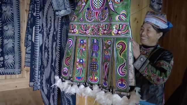 贵州这个苗寨99%是木房,每户几套蜡染百鸟衣成致富密码