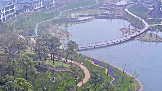 江北新区桃湖公园风光片
