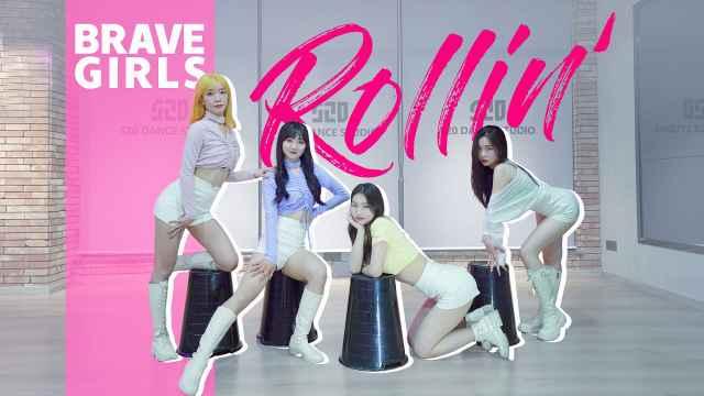 踩垃圾桶跳南韩最火女团舞Rollin'-Brave Girls