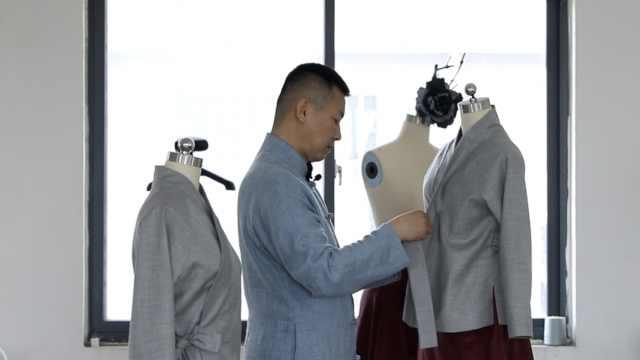 男子设计汉襟重现百业人生:分职业装学生装,增加现代元素
