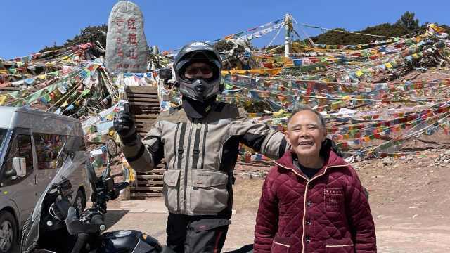 """加我一个!8旬老人向儿孙""""蹭游"""",23天行7337公里圆梦西藏"""