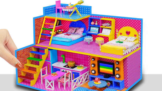 DIY迷你娃娃屋,天文台设计的小别墅
