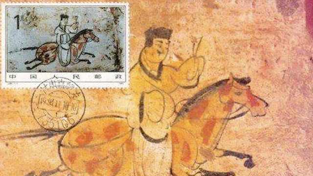 中国古代最早快递小哥画像:策马飞奔,唯独没画嘴