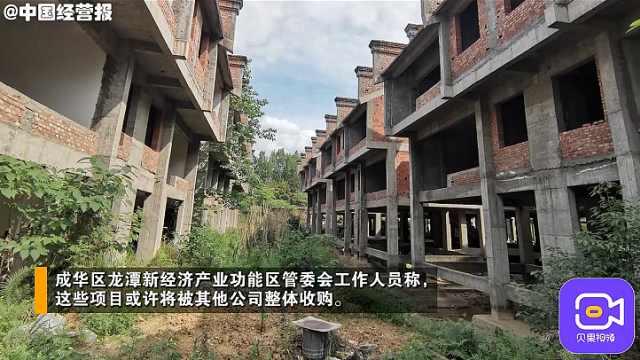 投资20亿,成都龙潭水乡景区没游客,百亩办公楼烂尾变菜地