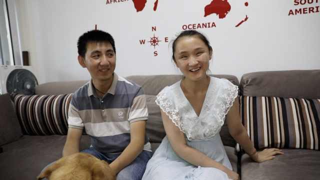 爱情的力量!盲人教师与导盲犬训导员丈夫先后考上同校研究生