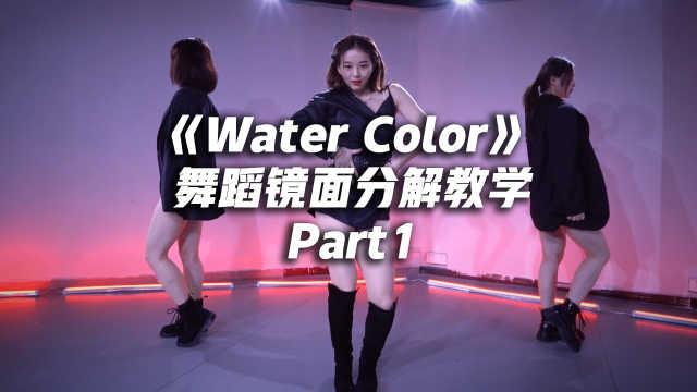 丁辉人《Water Color》舞蹈镜面分解教学part1