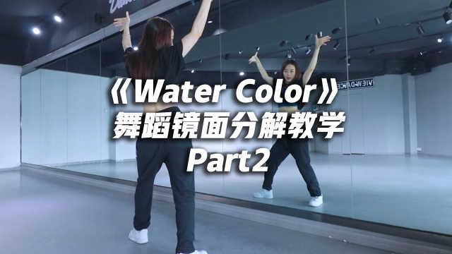 丁辉人《Water Color》舞蹈镜面分解教学part2