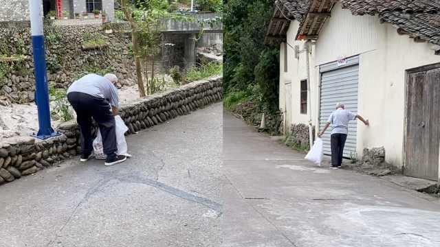93岁退伍老兵村里义务捡垃圾,18年不间断带动全村:让子孙健康
