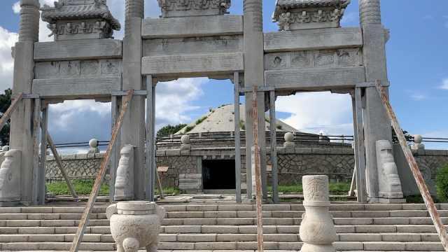 实拍张学良为张作霖修建的陵园:六千吨明清石刻,竟鲜为人知
