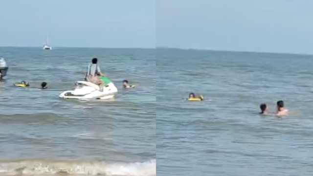 00后摩托艇驾驶员回应海边救1家3口:是条命,啥没想都要救