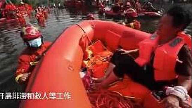河南大姐被救后拍了一圈消防员:我要记住你们的样子