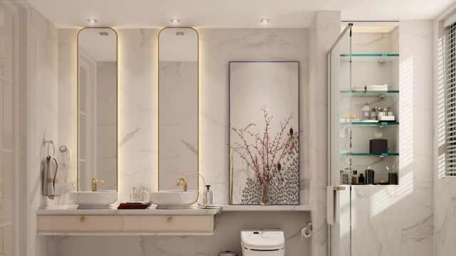 卫生间空间过小,一定要学学这5种干湿分离方法,实用显空间