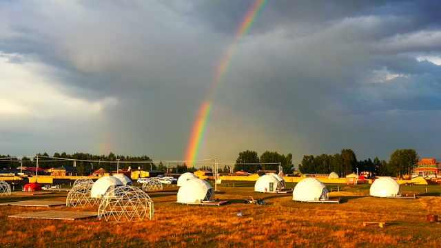 全国唯一的彩虹之都!新疆昭苏5个月彩虹出现超160余次