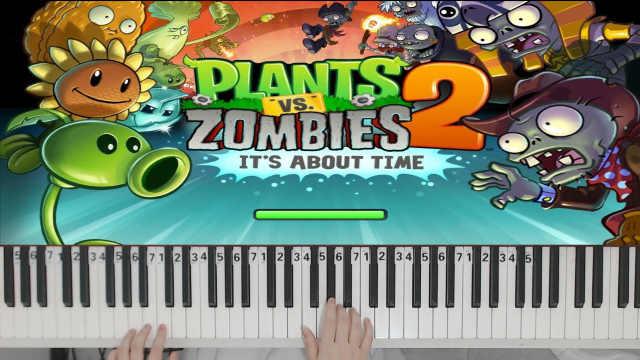 钢琴还原演奏《植物大战僵尸》白天主题BGM