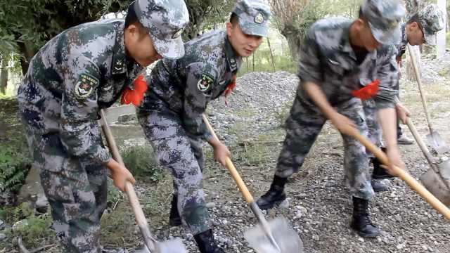 4小时修复2公里道路!西藏21名老兵退伍返乡前为驻地村民修路